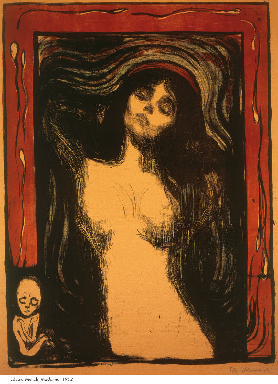 """""""Madonna"""", de Edvard Munch. Foto: Especial"""