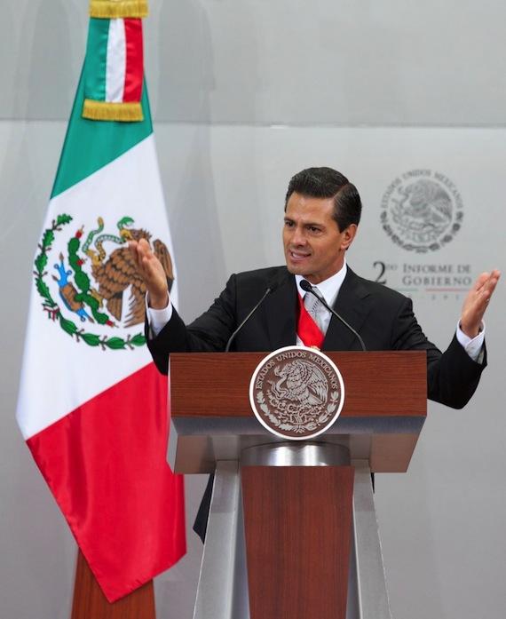 """En el mensaje alusivo de su Segundo Informe el Presidente mencionó sólo en una ocasión la palabra """"corrupción"""". Foto: Presidencia."""