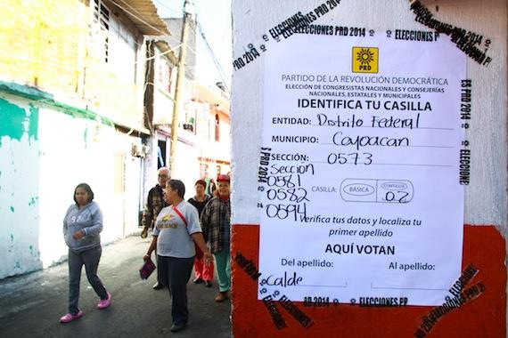 Se han presentado irregularidades en el proceso interno del PRD. Foto: Antonio Cruz, SinEmbargo.