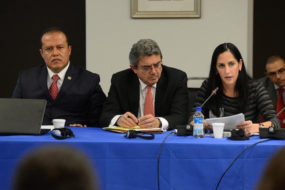 Parte de las autoridades mexicanas ante la Comisión Interamericana de Derechos Humanos Foto: CIDH