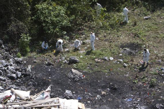 Basurero de Cocula donde, de acuerdo a la versión de la PGR, se encontraron los restos cremados de los normalistas. Foto: Cuartoscuro