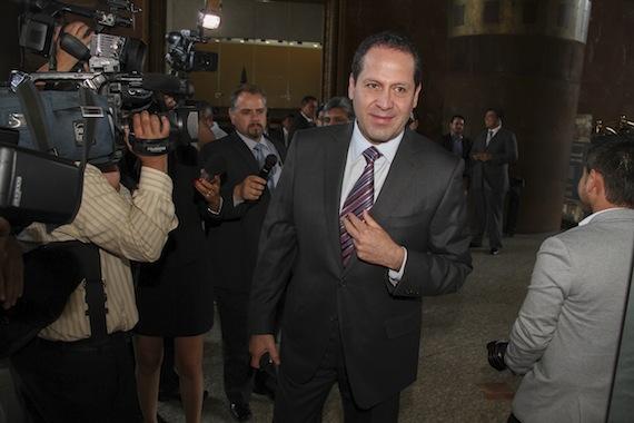 """El mandatario mexiquense pidió a los periodistas """"su comprensión"""" ante su postura. Foto: Cuartoscuro"""
