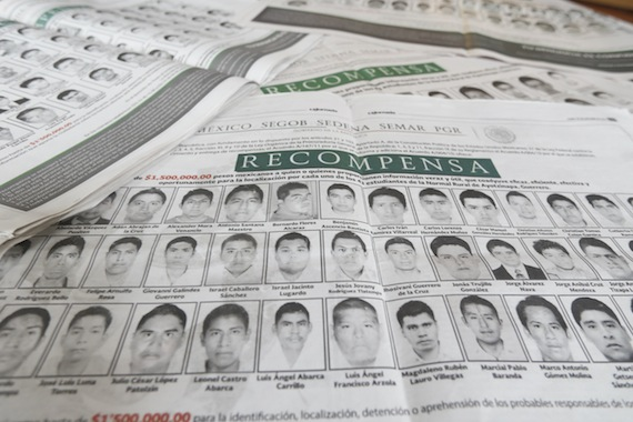 Rostros de los 43 estudiantes normalistas. Foto: Cuartoscuro
