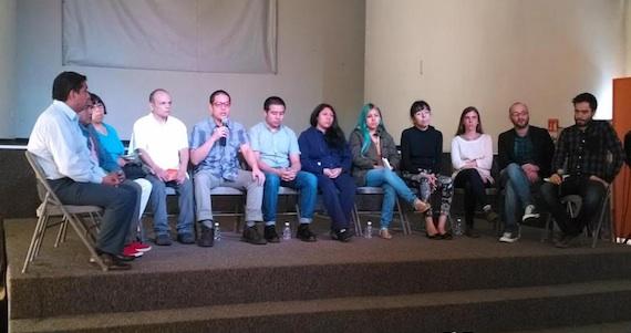 Conferencia de prensa de los detendos en el marco de las movilziaciones del #20NovMx. Foto: Twitter @CentroProdh