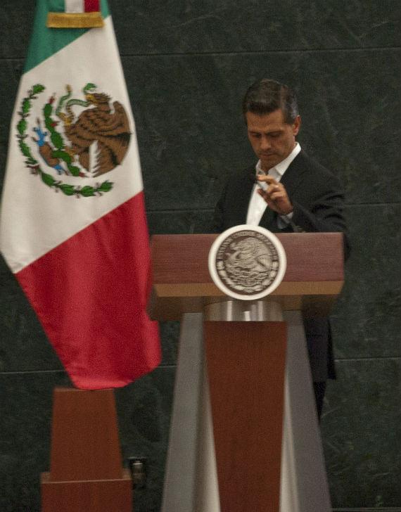Mensaje a la nación del Presidente Enrique Peña Nieto el 29 de octubre pasado, después de reunirse con padres de los 43 desaparecidos de Ayotzinapa. Foto: Cuartoscuro