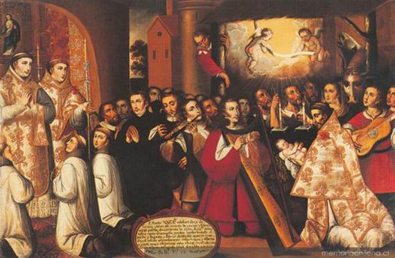 Coro navideño en el Virreinato de Perú, autor anónimo.