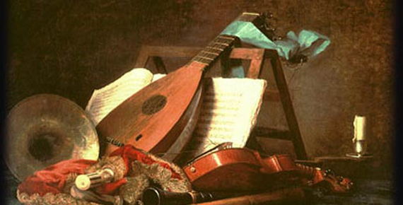 Instrumentos de música barroca.