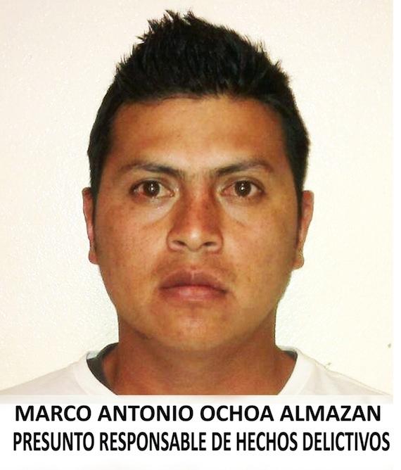 Marco Antonio Ochoa Almazán presuntamente sostenía una relación sentimental con la víctima, Angélica Trinidad Romero Severiano. Foto: PGJDF.