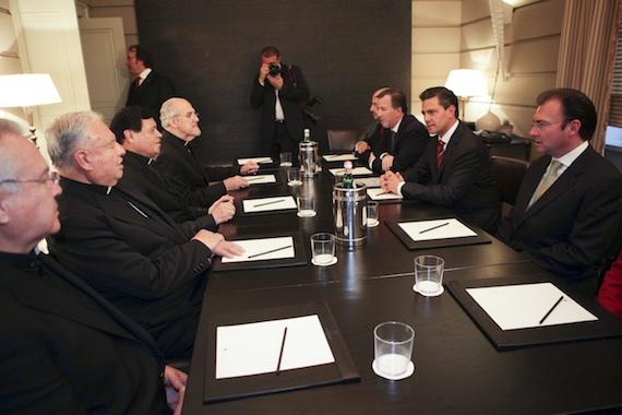 Norberto Rivera pide cambios al Presidente Enrique Peña Nieto por crisis. Foto: Cuartoscuro