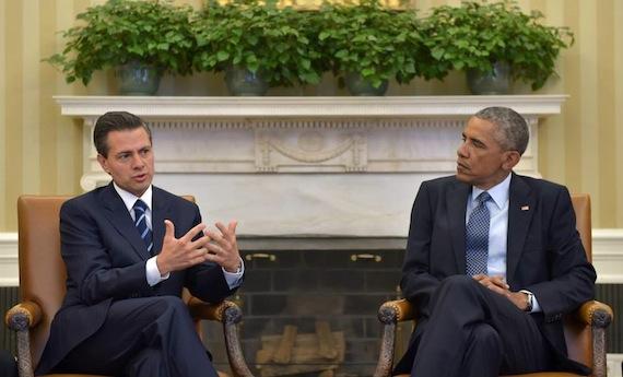 Los presidentes mantuvieron una reunión de una hora. Foto: Presidencia