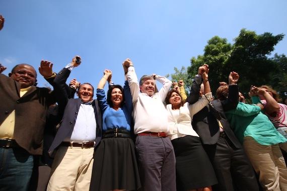 El 19 de enero iniciaron las precampañas del PRD en el Distrito Federal. Foto: Francisco Cañedo, SinEmbargo
