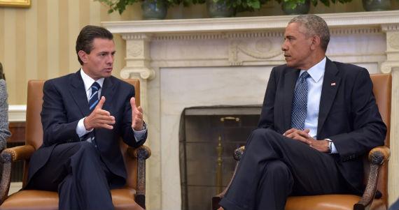 El Presidente Enrique Peña Nieto con su homólogo Barack Obama.