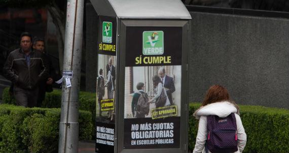 """Campaña """"El Verde sí cumple"""". Foto: Cuartoscuro."""
