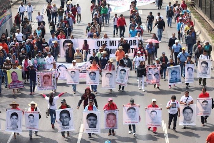 La ONU afirma que el caso de Iguala es un ejemplo de las desapariciones forzadas en México. Foto: Francisco Cañedo, SinEmbargo.