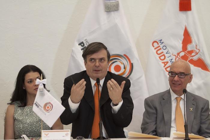 Marcelo Ebrard acusó a Aurelio Nuño de realizar una campaña de desprestigio en su contra. Foto: Cuartoscuro