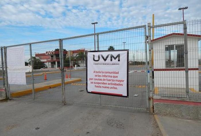La UVM anunció el pasado 9 de febrero que cerraba definitivamente su plantel de Nuevo Laredo. Foto: Especial.