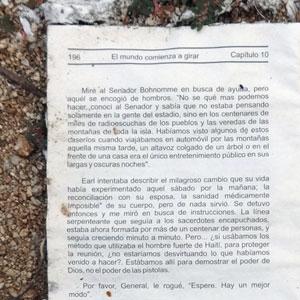 Página de uno de los libros distribuidos por Nazario. Foto Humberto Padgett SinEmbargo.