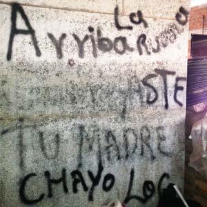 Nazario Moreno murió por segunda y definitiva vez el 9 de marzo de 2014. Los autodefensas hicieron un cuartel sobre su ermita. Foto Humberto Padgett SinEmbargo.