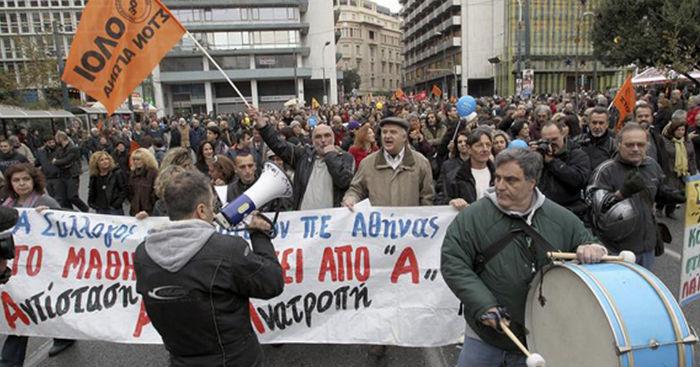 La crisis económica saco a millones de griegos de sus casas, para protestar en las calles. Foto: EFE