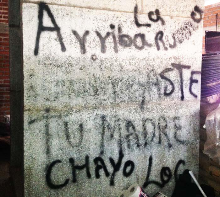 Nazario Moreno murió por segunda y definitiva vez el 9 de marzo de 2014. Los autodefensas hicieron un cuartel sobre su ermita. Foto Humberto Padgett SinEmbargo