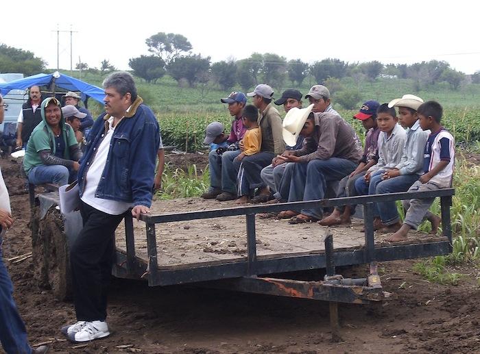 Rescate de jornaleros en situación de riesgo en Hidalgo. Julio 2013. Foto: Cuartscuro/Archivo.
