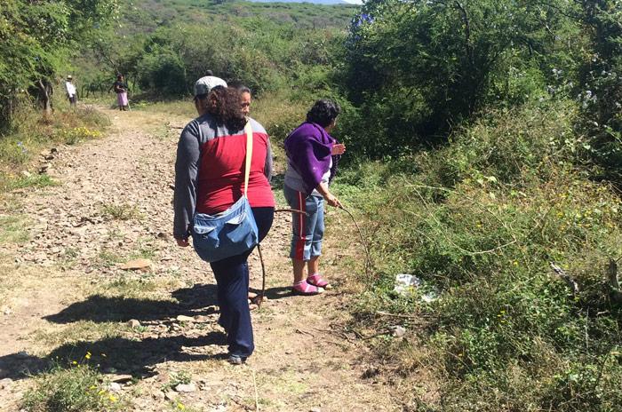 Familiares de los 43, en las búsquedas realizadas entre octubre, noviembre y diciembre pasado. Foto: Cuartoscuro
