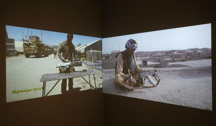 La muestra ofrece un gran lienzo multicolor que resume sus incursiones por Afganistán, México, Cuba y Estados Unidos Foto: Arturo López/CONACULTA
