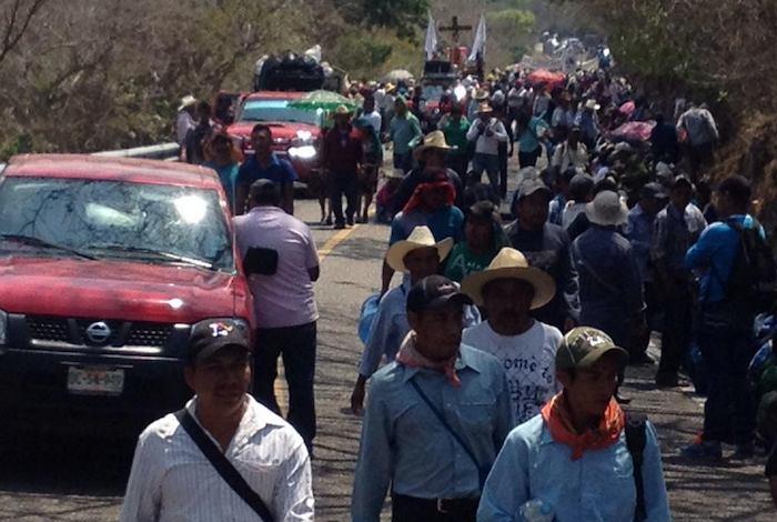 Miles de indígenas recorrieron 150 kilómetros durante cuatro días. Foto: Twitter vía @CdhFrayba.