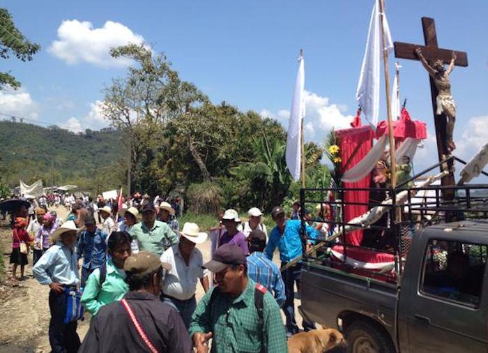 Los manifestantes dijeron que su lucha es pacífica. Foto: Twitter vía @CdhFrayba.
