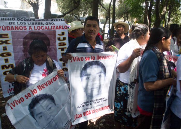 El caso Ayotzinapa es el que atrajo la atención internacional sobre el tema de los derec hos humanos en México. Foto: Ariana Pérez, SinEmbargo