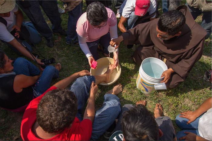 Caravana Viacrucis Migrante. Los Pinos, Ciudad de México, abril de 2014. Foto: Prometeo Lucero, especial