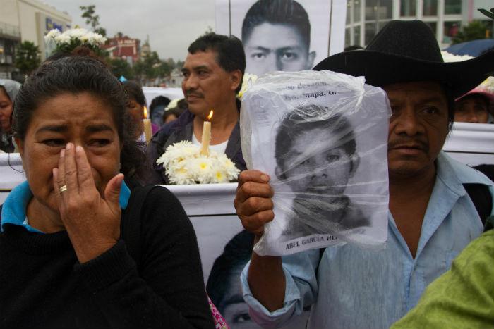 Los familiares llevan más de siete meses en busca de los estudiantes. Foto: Iván Stephens/Agencia Cuartoscuro