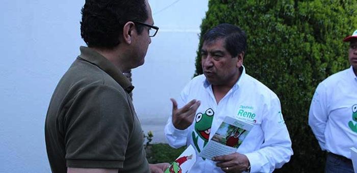 Buscan demandar a candidato por usar imagen de la rana René Foto: Pulso