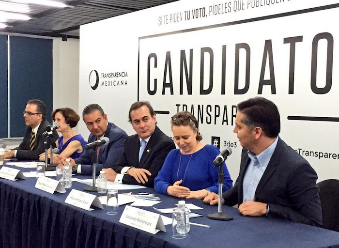 La iniciativa Candidato Transparente fue presentada ayer. Foto: Twitter @imcomx