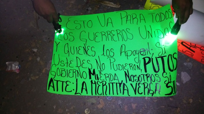 En un ataque a la colonia Ricardo Flores Magón fue dejado un mensaje atribuido al crimen organizado. Foto: Cuartoscuro.