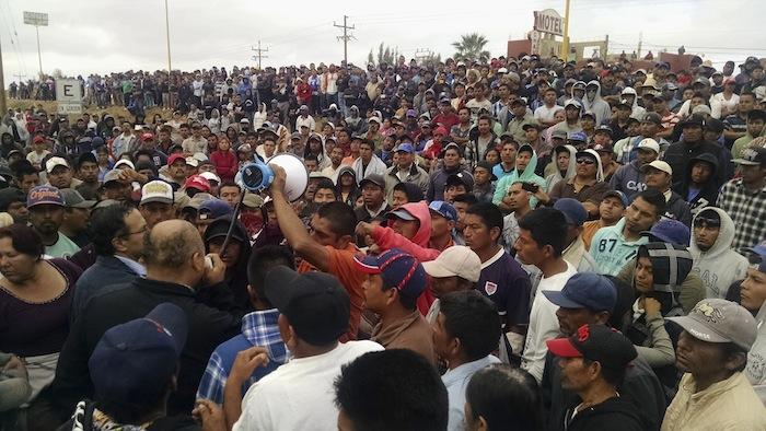 San Quintín: un ejemplo de los tiempos renovados de desprecio y deshumanización Desalojo_Jornaleros-2