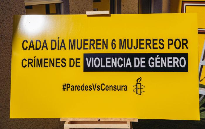 """Uno de los mensajes que fueron considerados """"indebidos"""". Foto: Amnistía Internacional."""