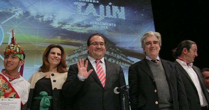Javier Duarte y su esposa Karime Macías. Foto: Cuartoscuro