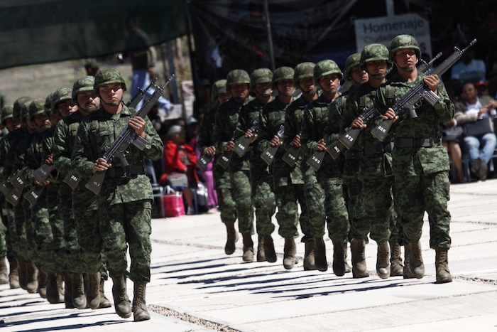 México gastó más de mil millones de dólares en equipamiento militar durante el año pasado. Foto: Cuartoscuro.
