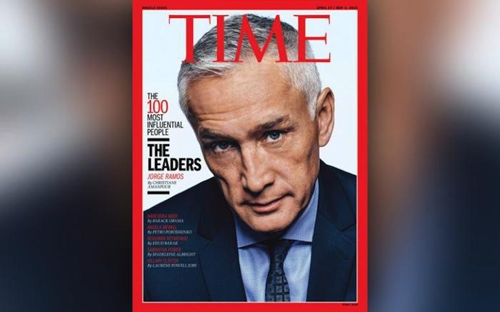 Jorge Ramos en la portada de Time Foto: Especial