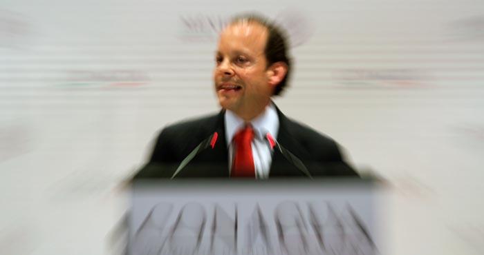 Finalmente, tras 11 días de presión por parte de la opinión pública, David Korenfeld Federman renunció como titular de la Conagua, cargo que desempeñaba desde el 4 de diciembre de 2012. Foto: Cuartoscuro