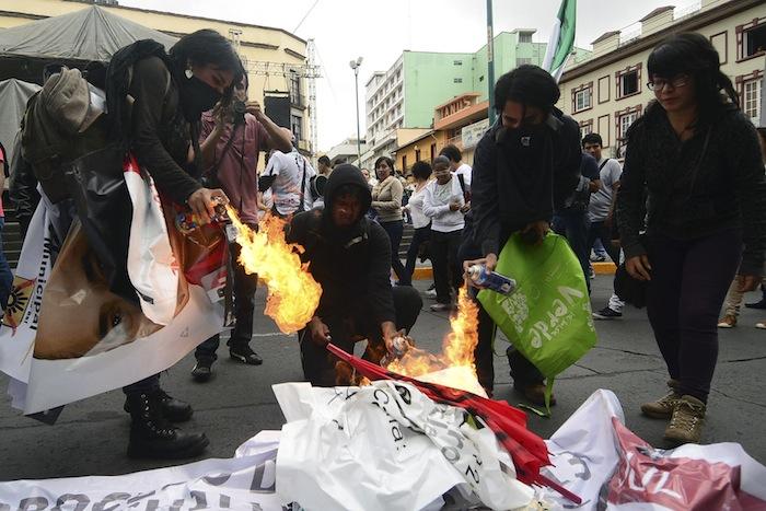 Elecciones protestas