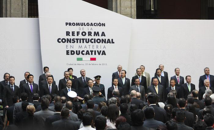 La Reforma Educativa se promulgó el 25 de febrero de 2013. Foto: Cuartoscuro