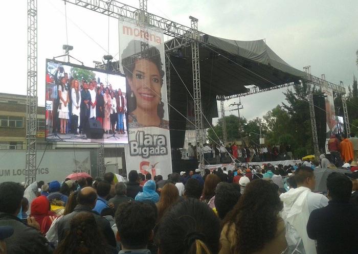 Morena cierra campaña a la jefatura delegacional en Iztapalapa. Foto: Sergio Rincón, SinEmbargo