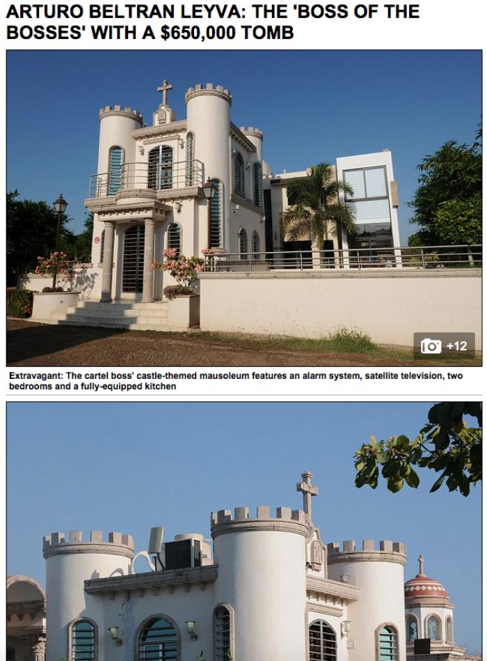 Mausoleo de Arturo Beltrán Leyva. Foto: Captura de pantalla