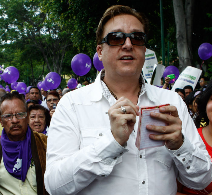 El conductor del Tv Azteca, Daniel Bisogno Foto: Cuartoscuro.