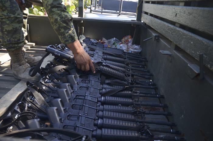 De 2010 a 2013 México incautó 115 mil 553 armas, un promedio de 28 mil 885 al año. Foto: Cuartoscuro.