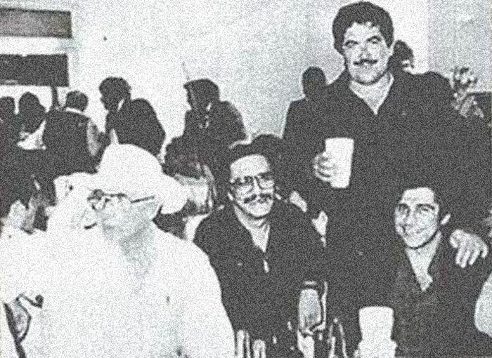 Juan N. Guerra, de sombrero; de pie, Juan García Ábrego, sobrino, uno de los grandes capos del Cártel del Golfo. Foto: Archivo