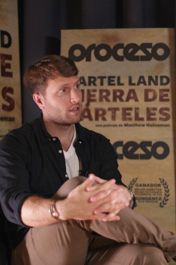 """""""Aprendí mucho de Kathryin Bigelow"""", dice el joven director. Foto: Francisco Cañedo, SinEmbargo"""