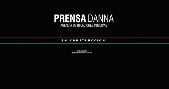 El home de Prensa Danna. Foto: Captura de pantalla.